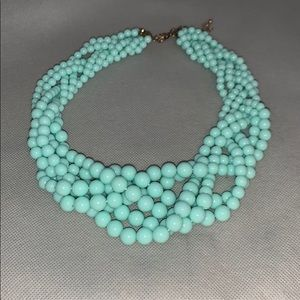 Mint green beaded statement necklace